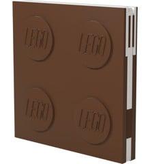 LEGO - Deluxe Notesbog med Kuglepen - Brun