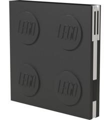 LEGO - Deluxe Notesbog med Kuglepen - Sort