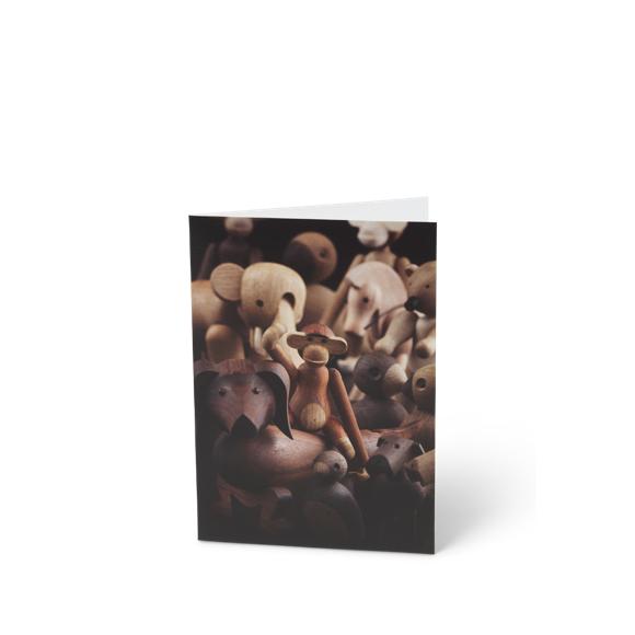 Kay Bojesen - 3 x Card A6 Trædyr, Gravhund Front
