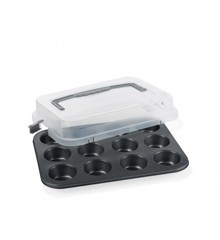 Funktion - Muffin Form With Lid - Grey (224465)
