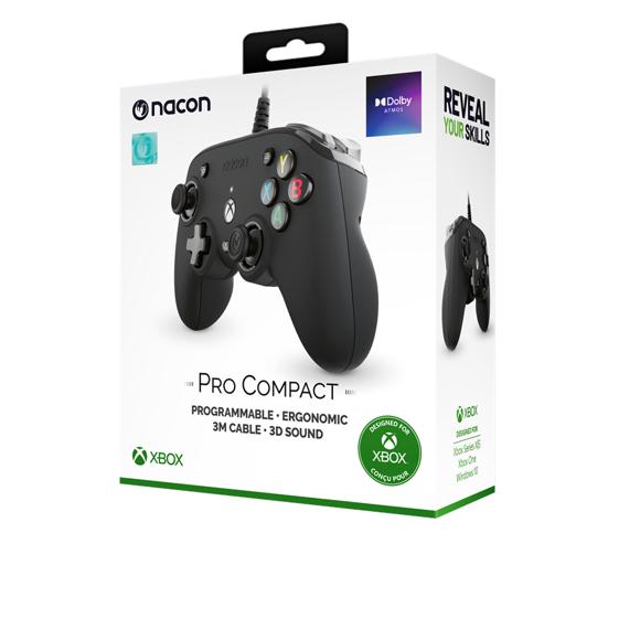 NACON Official Pro Compact Controller Black