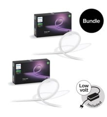 Philips Hue - 2x Lightstrip Outdoor 5m - White & Color Ambiance - Bundle