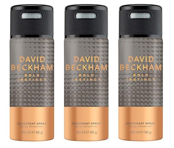 David Beckham - 3x Bold Instinct Deodorant Spray
