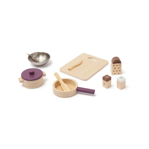 Kids Concept - Potter og pander til legekøkken BISTRO