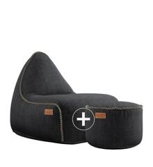 SACKit - RETROit Cobana + Drum Puf - Black ( Kan bruges udendørs )
