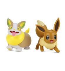 Pokemon - W7 Battle Figur - Eevee & Yamper