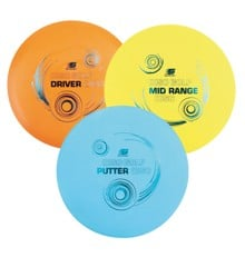 Sunflex - DiscGOLF Frisbee Set, 3 ranges (80190)