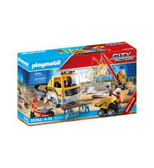Playmobil - Construction Site with Flatbed Truck (70742)