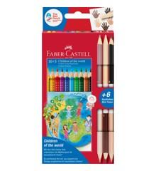 Faber-Castell - Colour Grip Children of the world farveblyanter10+3 (201746)