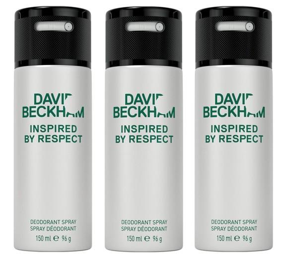 David Beckham - 3x Inspired By Respect Deodorant Spray
