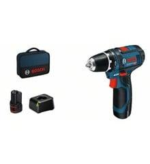 Bosch - GSR 12V-15 - Bore- /Skruemaskine - Batteri & Taske Sæt