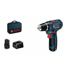 Bosch - GSR 12V-15 - Cordless Drill Driver - Battery & Bag Set