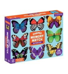 Mudpuppy - Butterflies Shaped Memory Match (M63267)
