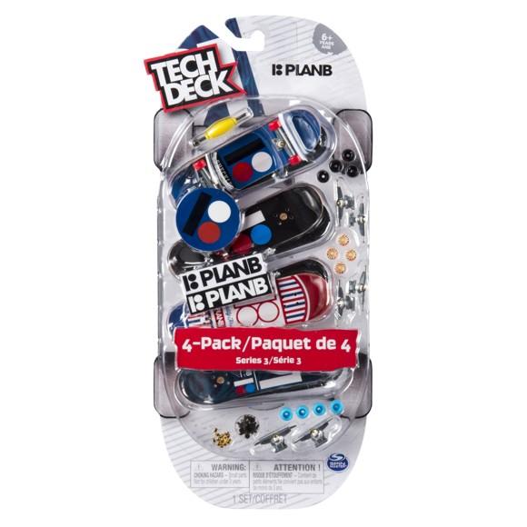 Tech Deck - Finger Skateboard 4 Pack - Ultra DLX, Plan B (6028815)