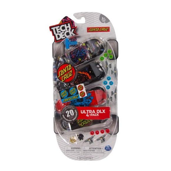 Tech Deck - Finger Skateboard 4 Pack - Ultra DLX Santa Cruz (6028815)