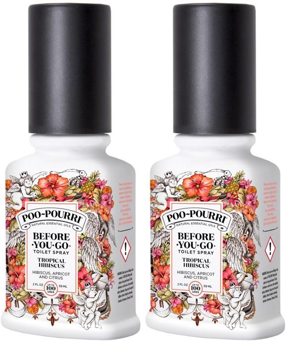 Poo~Pourri - 2x Tropical Hibiscus Toilet Spray 59 ml