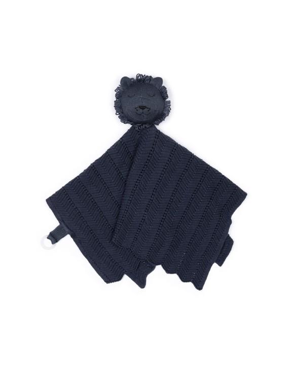 Smallstuff - Fishbone Cuddle Cloth - Dark Denim Lion