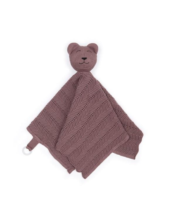 Smallstuff - Fishbone Cuddle Cloth - Dark Rose Teddy