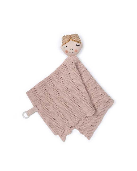Smallstuff - Fishbone Cuddle Cloth - Soft Rose Ballerina