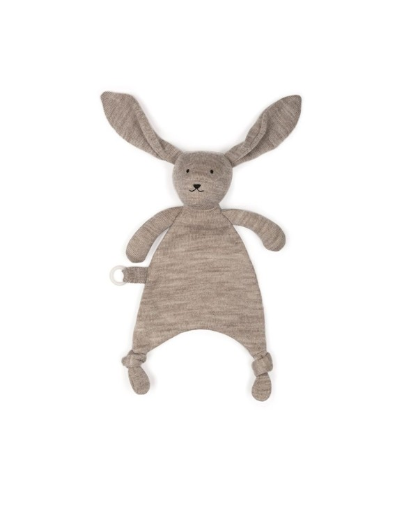 Smallstuff - Fishbone Cudling Cloth Merion Wool - Nature Rabbit