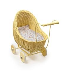 Smallstuff - Doll Stroller - Soft Yellow