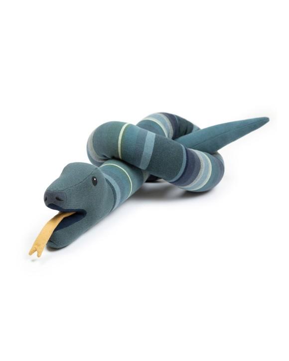 Smallstuff - Cushion Toy Animal Snake - Multi Green/Blue