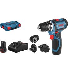 Bosch - GSR 12V-15 FC - Cordless Drill Driver - Complete Set