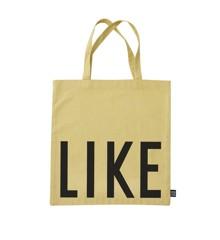 Design Letters - Farvorite Shoppingtaske - Like Frisk Gul