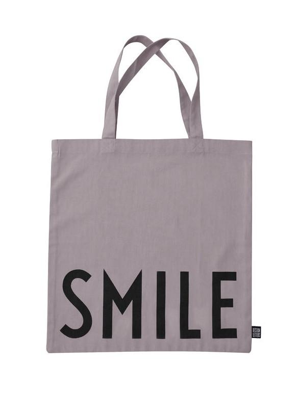 Design Letters - Farvorite Shoppingtaske - Smile Støvet Lilla