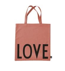 Design Letters - Farvorite Shoppingtaske - Love Raspberry Beige