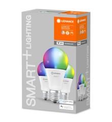 LEDVANCE - SMART+ standard 60W/RGBW mat E27 WiFi 3 pak