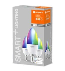 Ledvance- Smart+ Candle 40W/RGBW Frosted E14 WiFi 3 pack