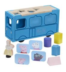 Peppa Pig - Wood Play - School Bus Sorter (20-00118)