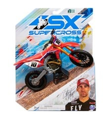Supercross - 1:10 Die Cast Collector Motorcycle - Justin Brayton