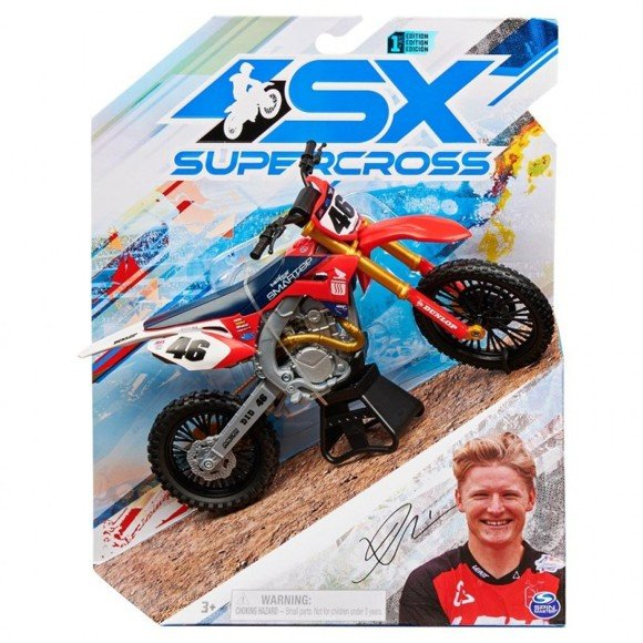 Supercross - 1:10 Die Cast Collector Motorcycle - Justin Hill