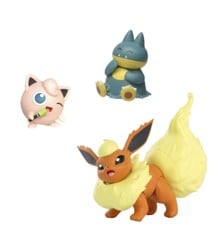 Pokemon - Figure 3-Pack - Togedemaru, Munchlax & Jigglypuff