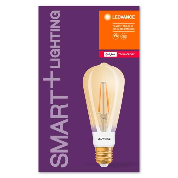 Ledvance - Smart+ Edison  Clear Filament Gold E27 Light Bulb - Zigbee