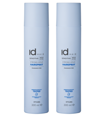 IdHAIR - 2 x Sensitive Xclusive Strong Hold Hairspray 300 ml