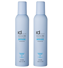 IdHAIR - 2 x Sensitive Xclusive Strong Hold Mousse 300 ml