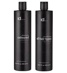 IdHAIR - Essentials Shampoo Colour 500 ml + Conditioner 500 ml