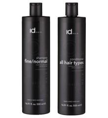 IdHAIR - Essentials Shampoo Fine/Normal 500 ml + Conditioner 500 ml