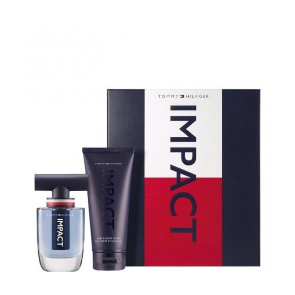 Tommy Hilfiger - Impact EDT 50 ml +  Hair & Body Wash 200 ml - Giftset