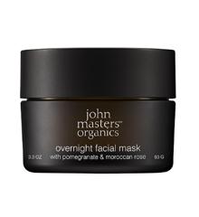 John Masters Organics - Overnight Facial Mask w. Pomegranate & Moroccan Rose 93 g