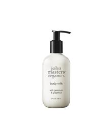 John Masters Organics - Body Milk w. Geranium & Grapefruit 236 ml
