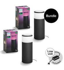 ​Philips Hue - Calla Outdoor Basekit & Extension - White & Color Ambiance - Bundle