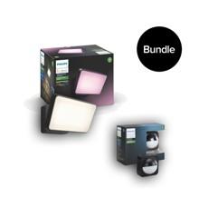 Philips Hue - Discover Black Outdoor & Outdoor Motion Sensor - Bundle