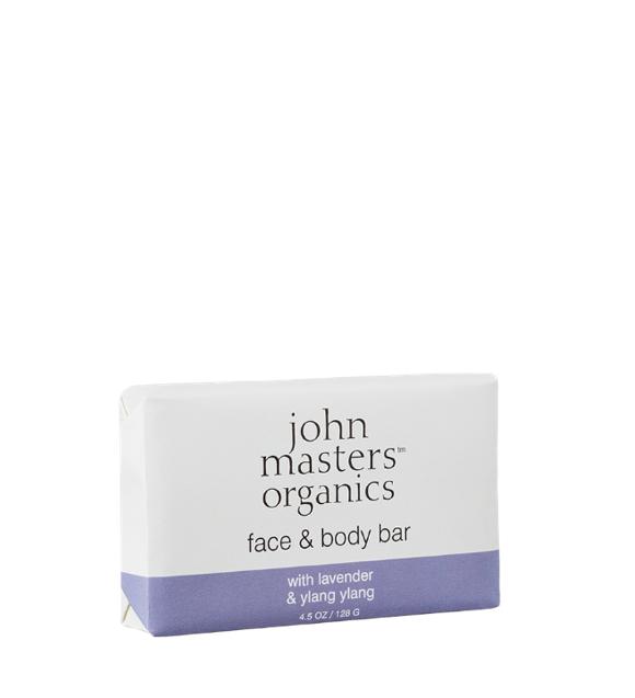 John Masters Organics - Face & Body Bar w. Lavender & Ylang Ylang 128 g