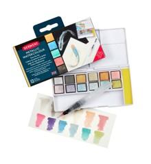 Derwent -  Metallic farver, 12 stk i palette (603053)