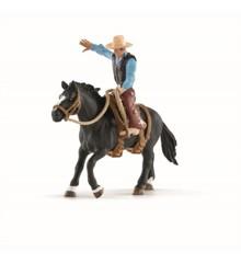 Schleich - Saddle bronc ridning med cowboy (41416)