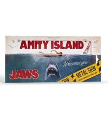 JAWS: Amity Island Metal Sign